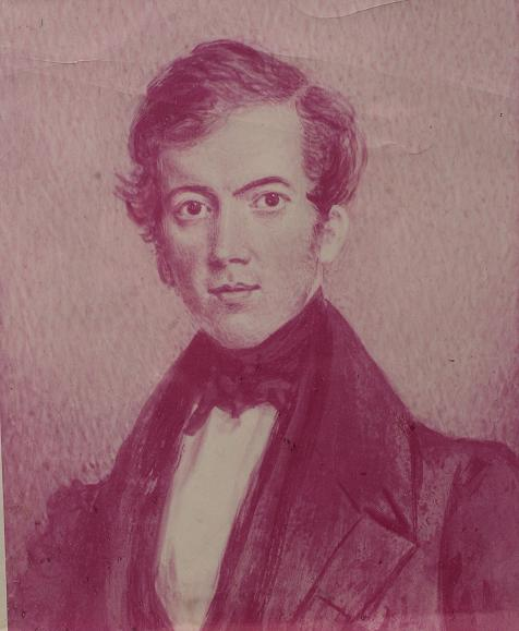 David Livingstone as a 25-year-old man in Ongar