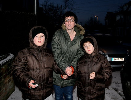 Beverley Brewer with sons Paul and Mark