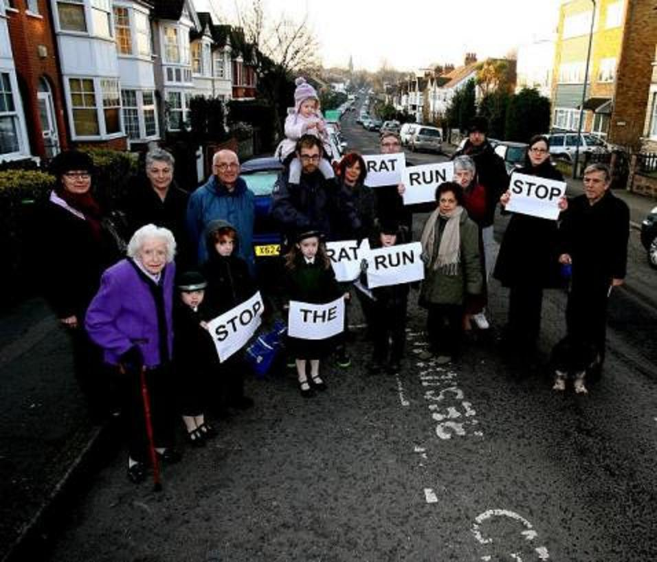 Campaigners on Wellington Road