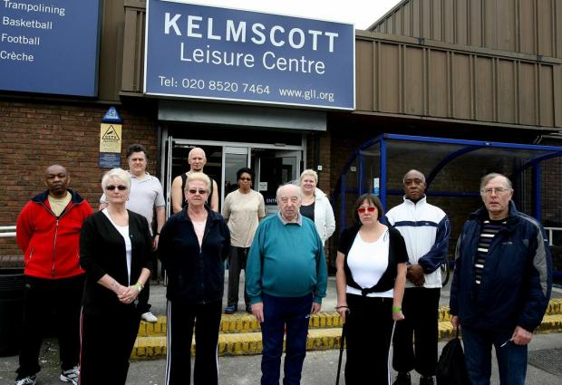 Residents who benefit from the Healthwise programme, pictured outside Kelmscott Leisure Centre, are dismayed at the threat to the scheme.