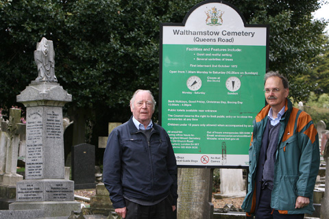 Stan Britten and Mark Carroll of The Waltham Forest Family History Society are concerned about council charges for residents to find out burial information.