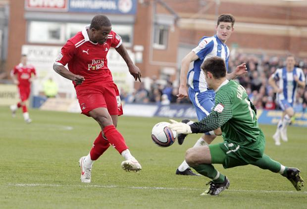 East London and West Essex Guardian Series: Kevin Lisbie was in superb form during the win at Portsmouth: Action Images
