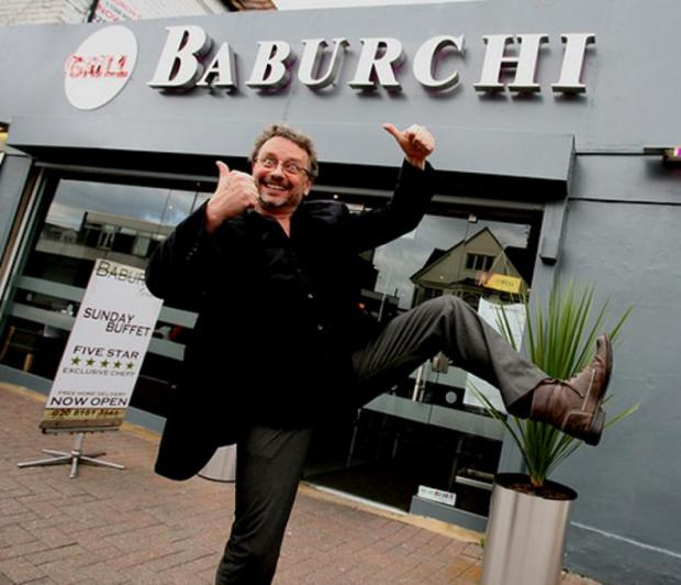 Jon Fentiman outside Baburchi in Leytonstone
