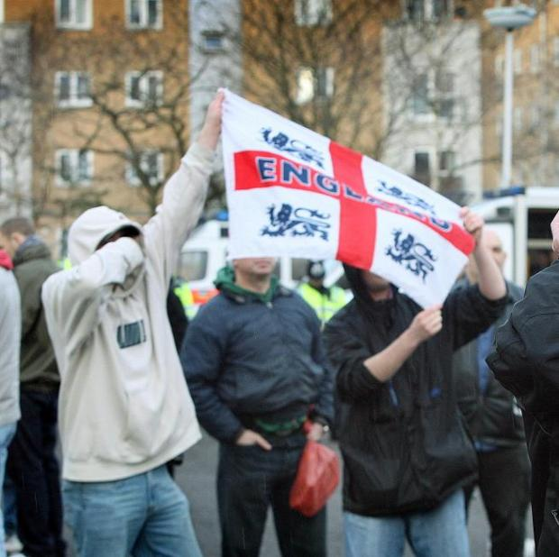 A 2009 EDL march in Harrow.
