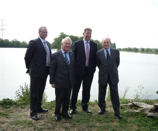 2012 - Waltham Forest Council Chief Executive Martin Esom, Bob Neil MP, Thames Water Chief Executive Martin Baggs and council leader Cllr Chris Robbins at the launch announcement of the plans last year.