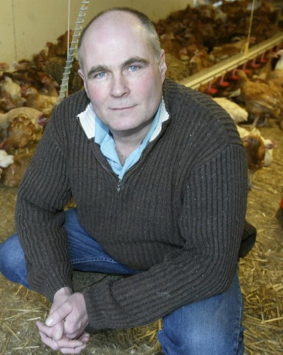 Ian Chisholm on his farm in Norton Mandeville, Essex