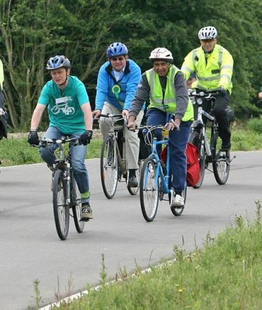 Cyclists at Redbridge Cycling Centre (file photo)