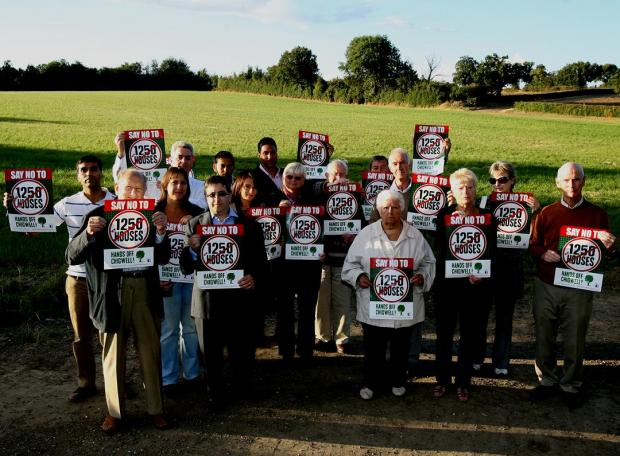 Campaigners who are against development surrounding Chigwell