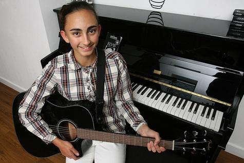 East London and West Essex Guardian Series: Young songwriter Anna Wells, 14.
