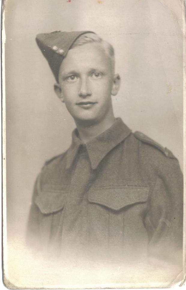 East London and West Essex Guardian Series: George McGowan as a young army recruit.