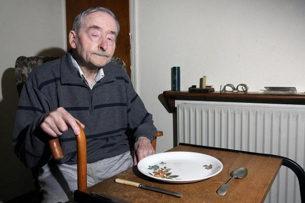 East London and West Essex Guardian Series: Meals on wheels user Eric Wackett