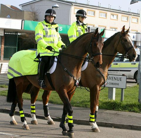 East London and West Essex Guardian Series: Mounted Police on Limes Farm estate (file photo)