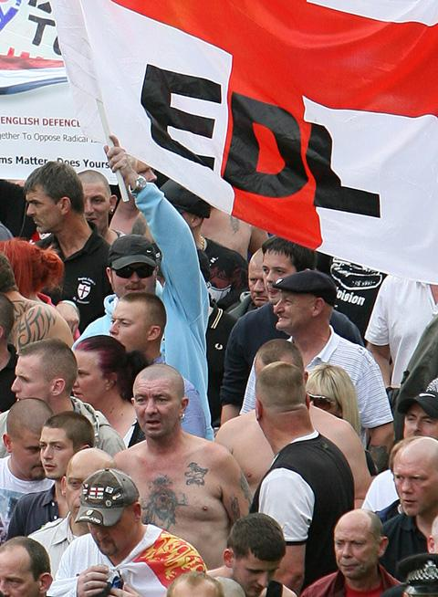 The EDL march in September