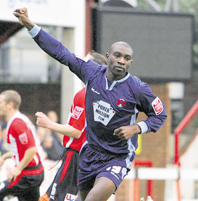 JAB PACKS A PUNCH: Jabo Ibhere, who scored at Brentford on Saturday, wants more goals for Orient (c)