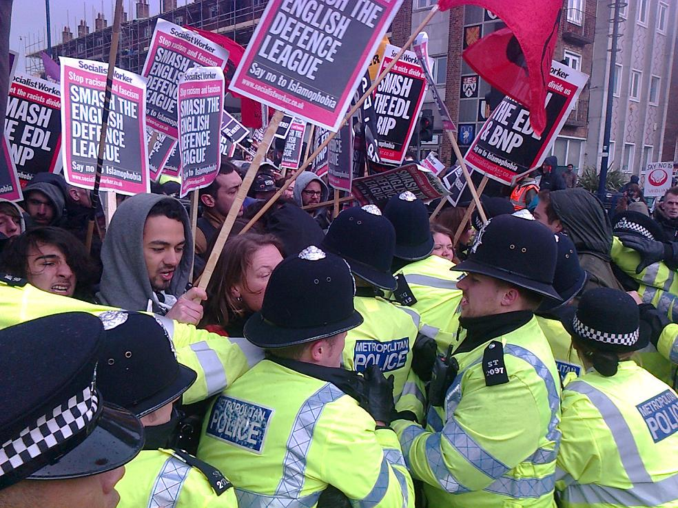 WALTHAMSTOW: Anti-EDL campaigners defy march ban