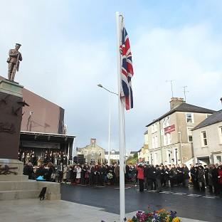 East London and West Essex Guardian Series: Enniskillen comes to a standstill to mark the 25th anniversary of the IRA Poppy Day bombing atrocity