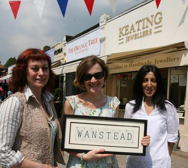 Wanstead Business Partnership members Michele Redgrave, Rachel Root and Amerah Bashir