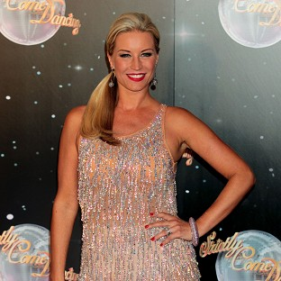 File photo dated 11/9/12 of Denise Van Outen who has had to put rehearsals on hold for Strictly Come Dancing after damaging her neck. PRESS ASSOCIATION Photo. Issue date: Thursday October 11, 2012. See PA s