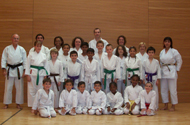 Karate enthusiasts from the Score Complex in Leyton pose for the camera (c)