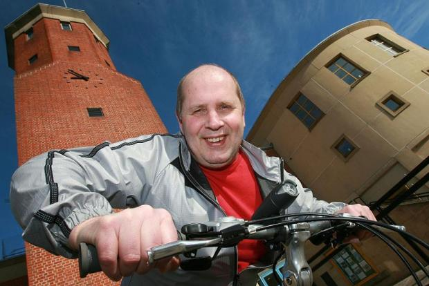East London and West Essex Guardian Series: Dale Nichol setting off on his Turpin-inspired bike ride.
