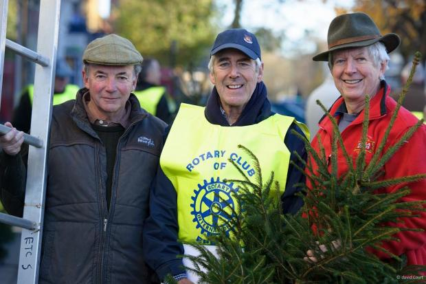 David Cole, Peter Hellmers and Humphrey Wheeler, who all volunteered to put up Christmas trees
