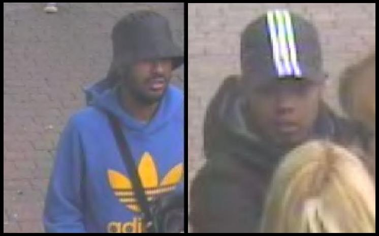 CCTV of two suspects in the case.
