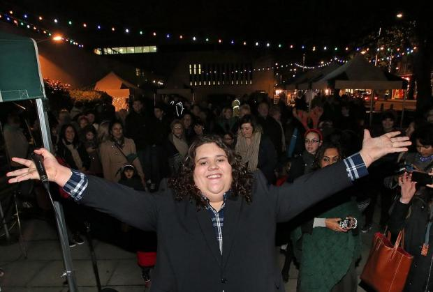 East London and West Essex Guardian Series: Jonathan Antoine at the switch on