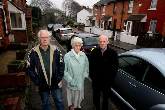 Sunnyside Road residents Ray Redgwell, Olive Freshwater and Alan Rofe.