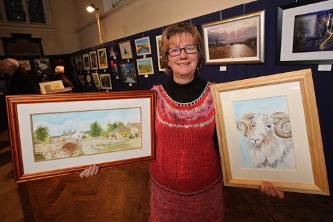 Paintings and ceramics by talented local artists go on display