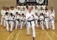 Roger Rayner with fellow karate enthusiasts