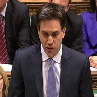 Labour Party leader Ed Miliband responds to Prime Minister David Cameron's
