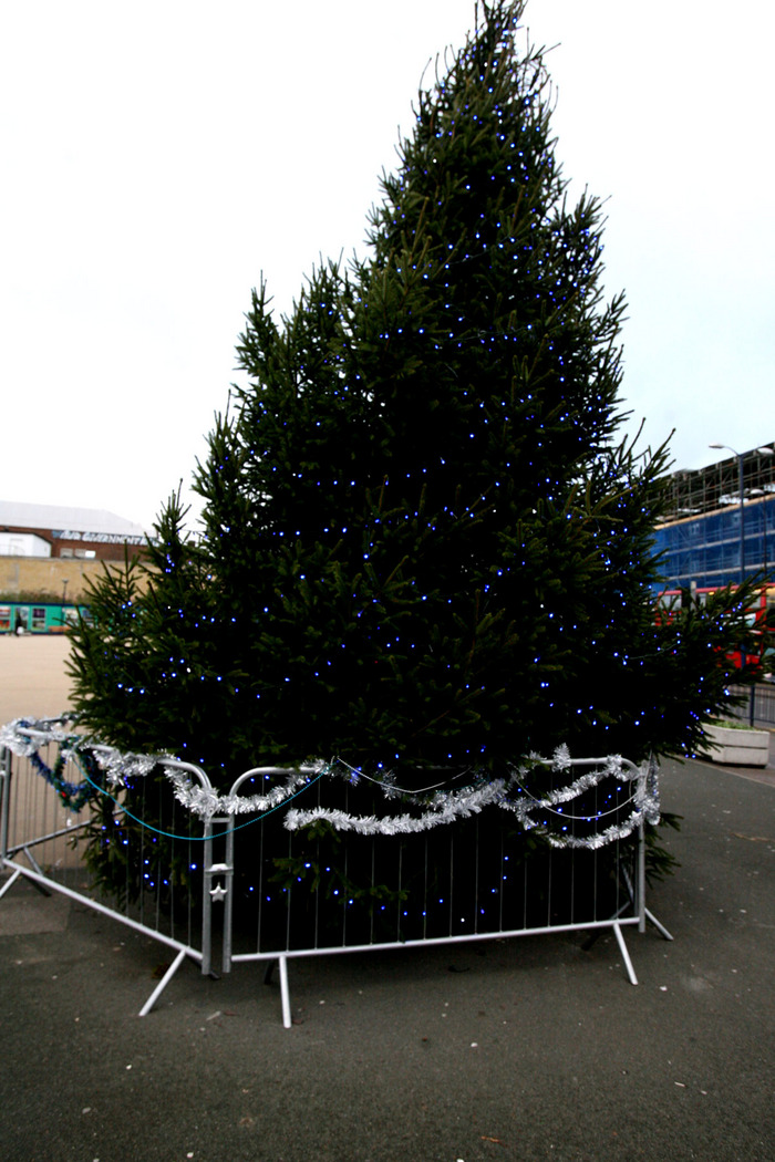 'Guerilla decorators' spruce up Christmas tree