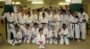 KARATE SHOWDOWN: Some of the competitors pictured after the event 	(c)
