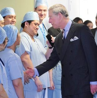 Prince Charles said health professionals should develop a 'healing empathy'