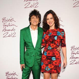 Ronnie Wood and Sally Humphreys hav