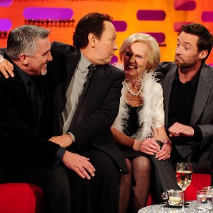 Bake-Off pair Paul Hollywood and Mary Berry were Graham Norton's guests alongside Billy Crystal and Hugh Jackman