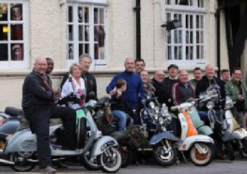 Scooter riders surpass charity target