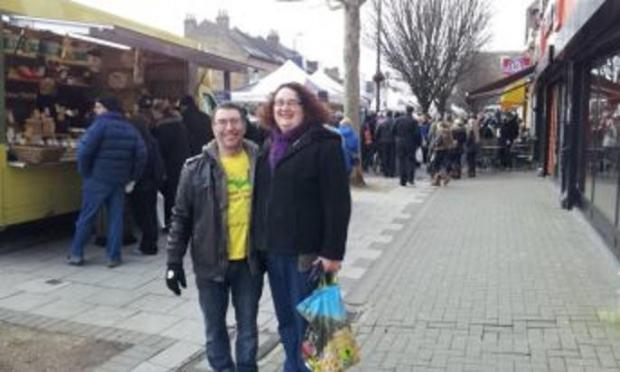 East London and West Essex Guardian Series: Adam and Rebecca Osen at the market