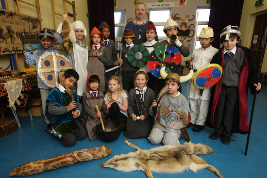 Children experience life as Vikings for a day