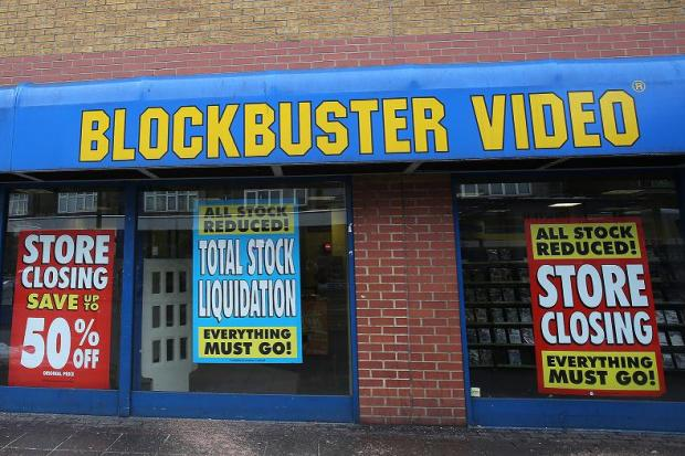 The Leyton branch of Blockbuster pictured this week.