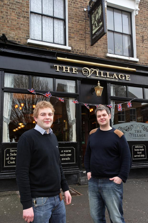 East London and West Essex Guardian Series: Ben Williams and Matthew Todd have taken over the Village pub in Walthamstow.