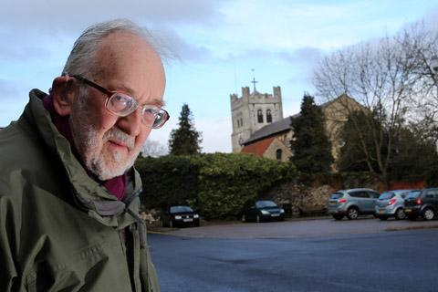 Peter Huggins in  car park in Darby Drive behind the Abbey Church.