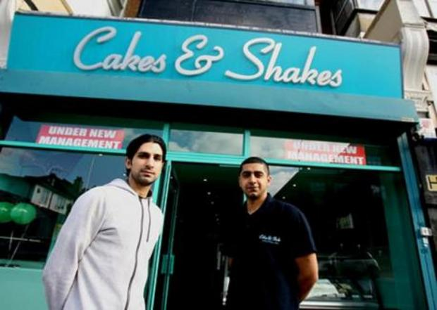 East London and West Essex Guardian Series: Ali Rashid and co-manager and Zubain Khaliq outside Cakes & Shakes last year