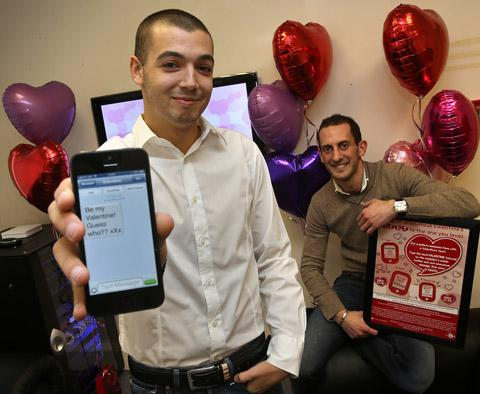 Ollie Levy and Sam Seller are offering an anonymous text service for Valentines Day.