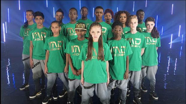 Lauren Halil, front, with dance troupe IMD