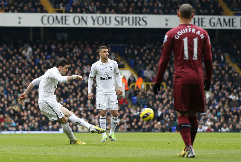 Bale put Spurs ahead in the fifth minute with a superb free-kick from 30 yards