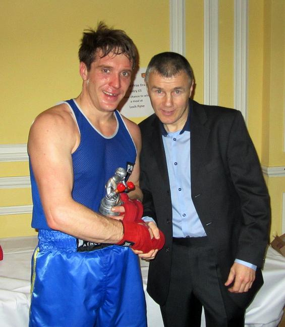 Boxer Boris Banas with Jimmy McDonnell