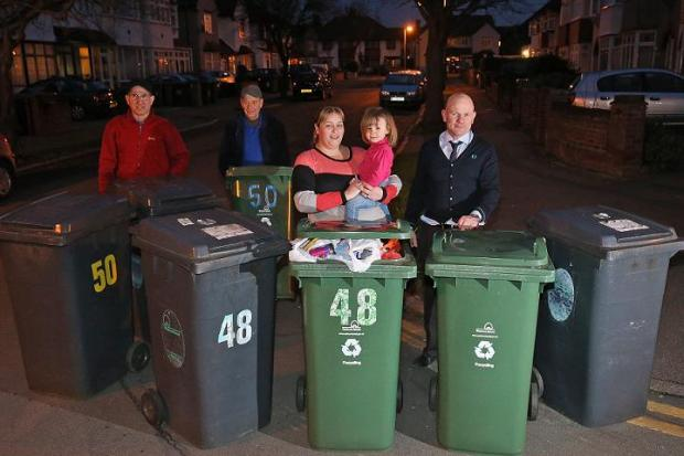 Families angry at missed bin collections