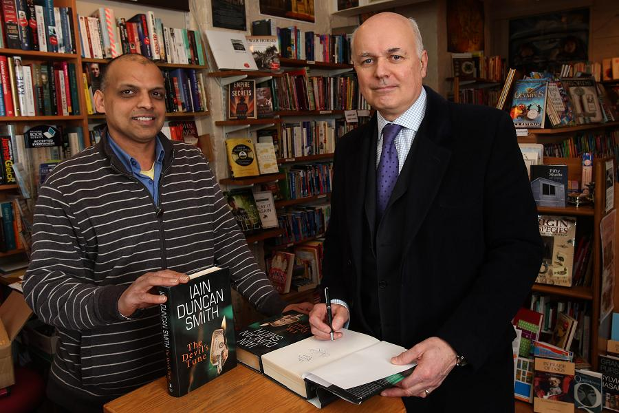 Tan Dhillon with Iain Duncan Smith