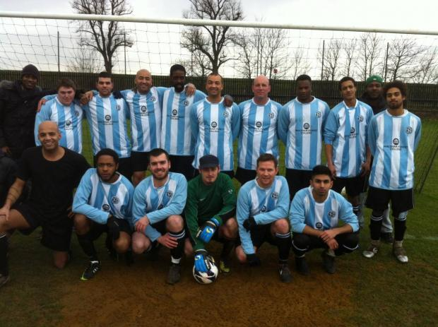 Lea Valley (pictured) lost 2-0 to Mayfield Athletic